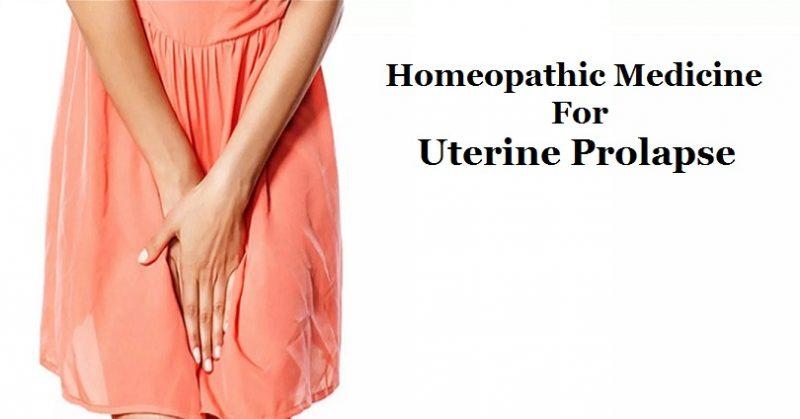 homeopathic medicine for uterine prolapse