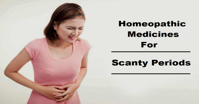 homeopathic medicine for scanty periods